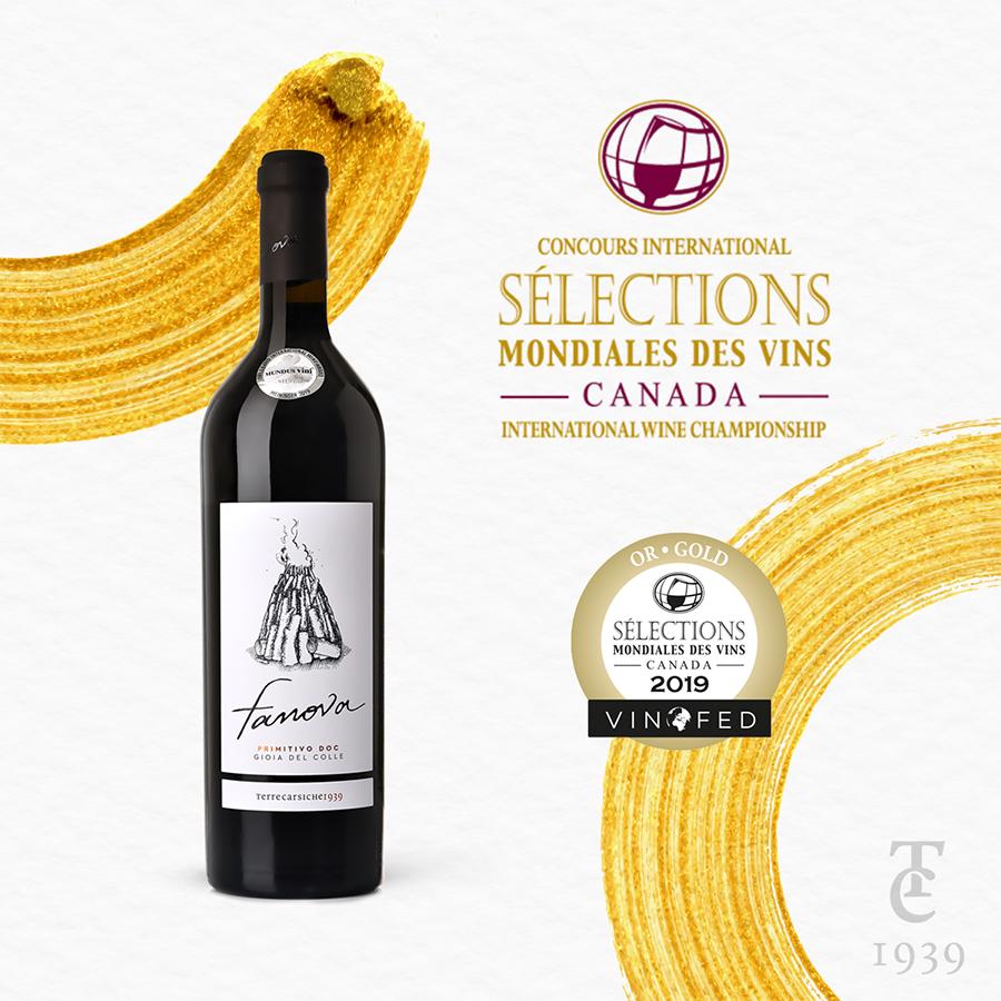 "Fanova Medaglia d'oro al ""Sélections Mondiales Des Vines"""