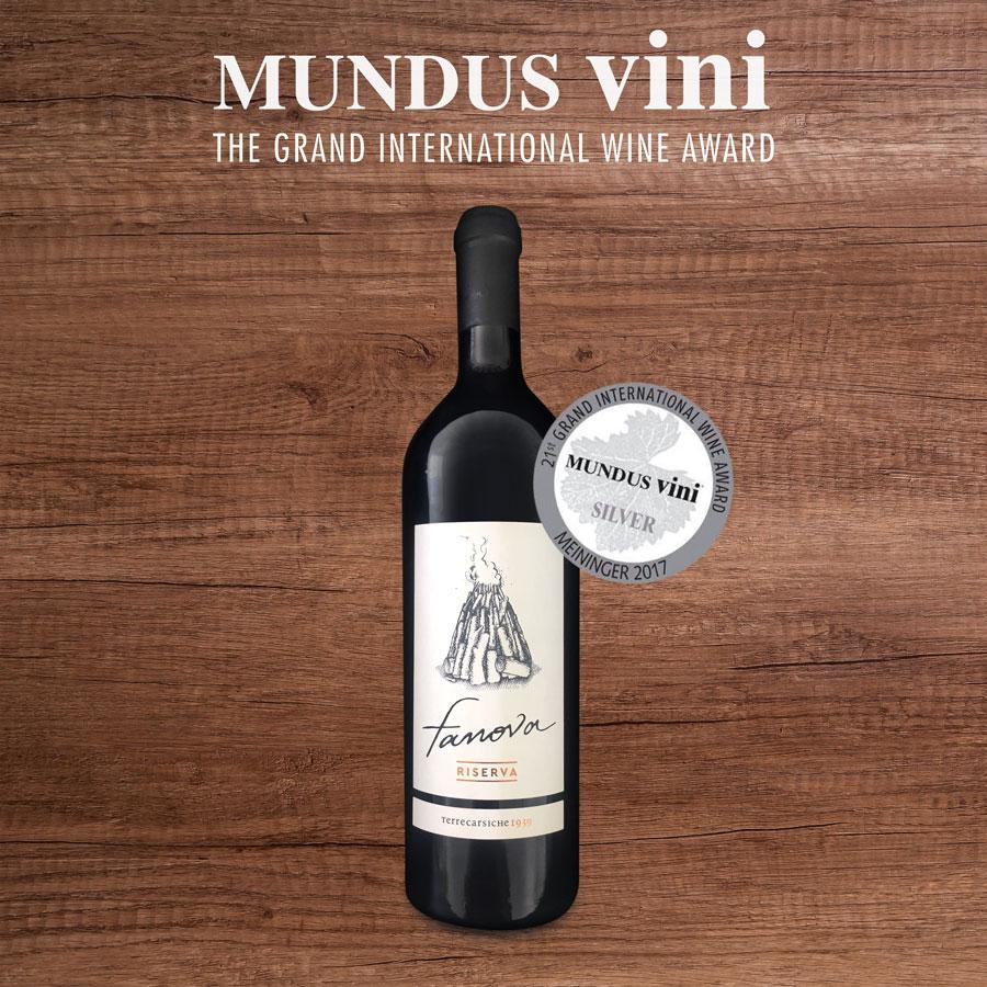 """Il Primitivo """"Fanova Riserva"""" è medaglia d'argento al Mundus Vini"""