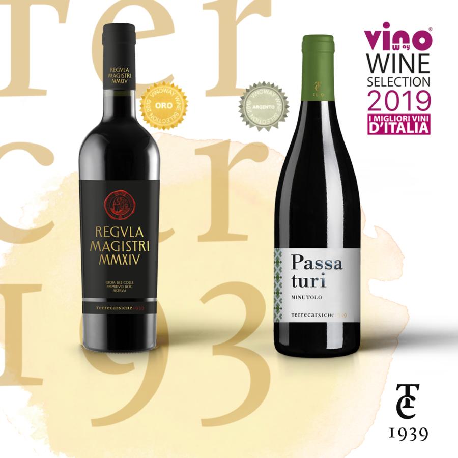 Terrecarsiche premiata al Vinoway 2019